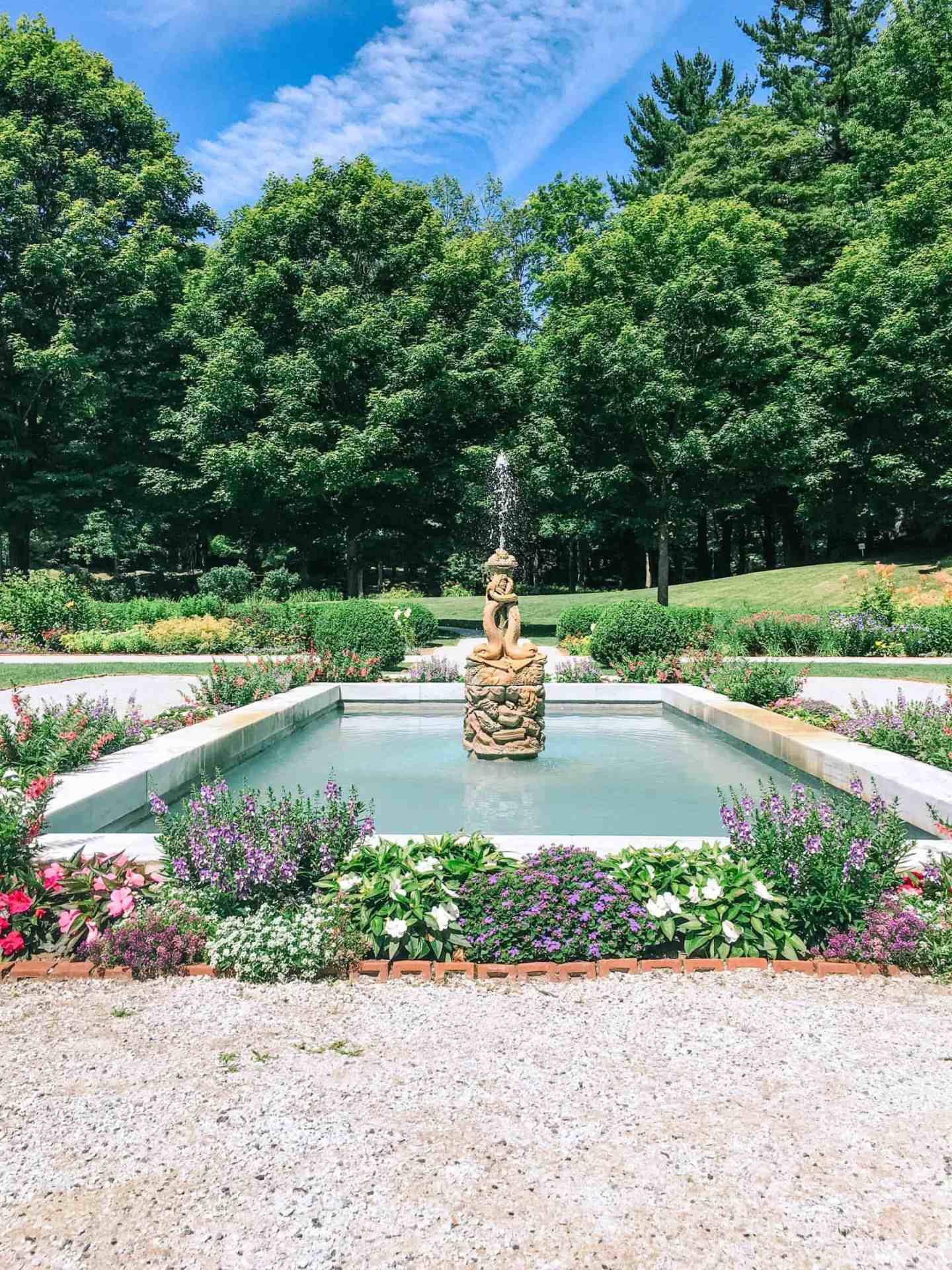 formal garden at The Mount