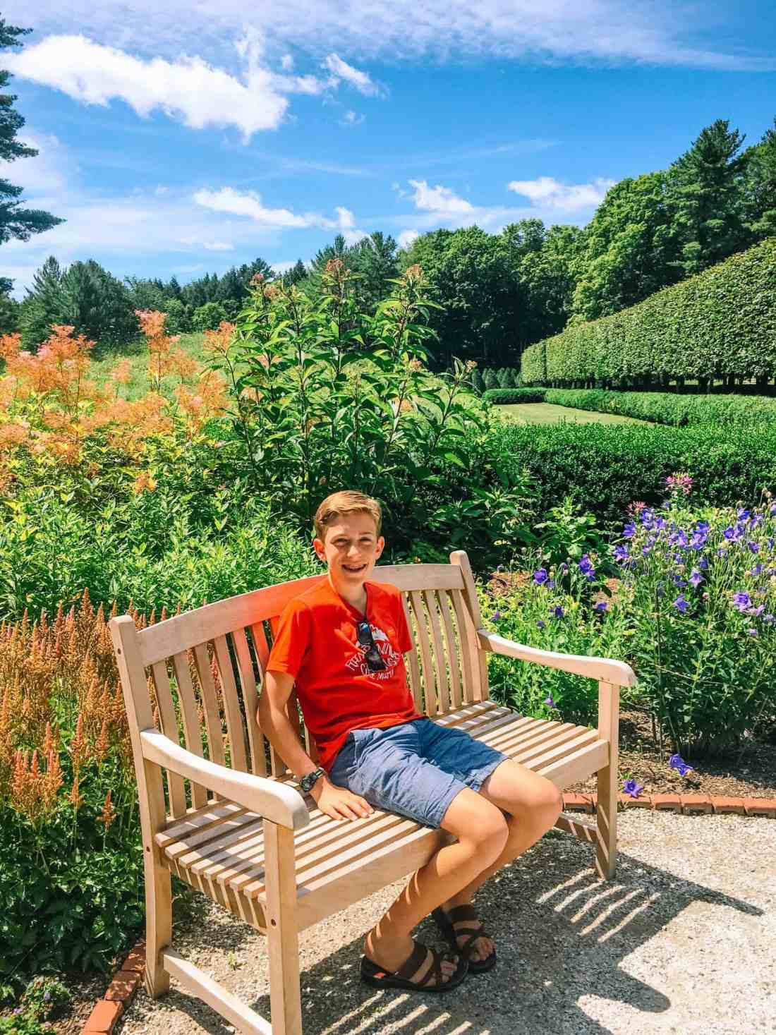 garden at The Mount in Lenox Massachussetts