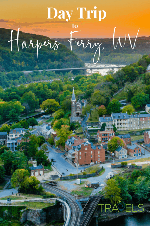 Harpers Ferry West Virginia is the perfect day trip from Washington DC. You can go hiking or visit historic spots while enjoying the lush landscape of the town. #outsidedc #historictown #nationalpark #westvirginia