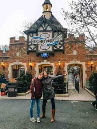 Visiting Hershey Park at Christmas