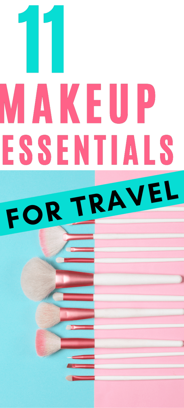 The best items to take with your in your travel makeup kit! Don't forget a thing, and don't pack more than you need. These guys play double duty and allow you to look fabulous without taking everything you own. #travelmakeup #makeupartisttravels #travelpacking