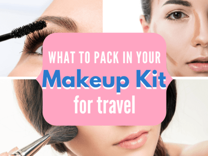 What to pack in your travel makeup kit
