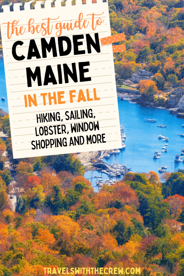 Camden Maine is a fabulous vacation spot for families and couples. Enjoy beautiful vistas from Mount Battie, sailing in the Penobscot Bay, and fabulous food! Enjoy beautiful leaves as you walk the downtown or hike to scenic vistas.