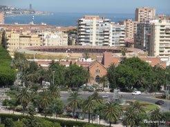 Looking down from the Alcazaba in Málaga: the bull ring