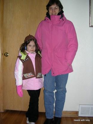 my Brownie and me selling cookies