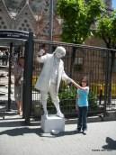 in front of Sagrada Familia