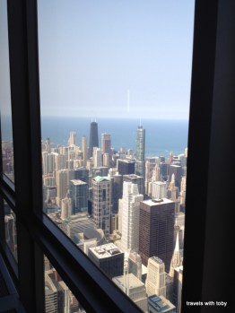 Chicago and Lake Michigan from Willis Tower