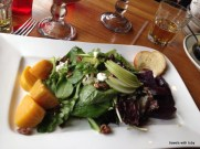 beet and pear salad, one of my faves