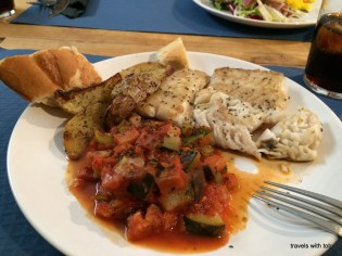 mmmm, delicious hake and ratatouille