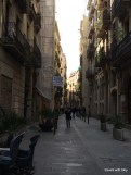 Miss M loved exploring this street near the Palau