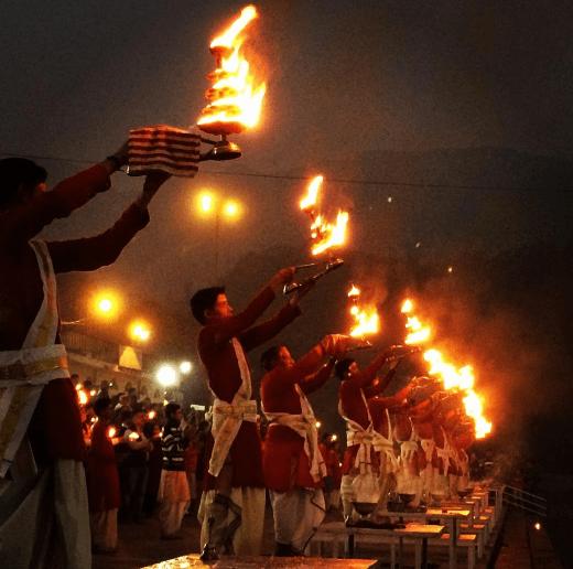 Aarti at Triveni Ghat Rishikesh