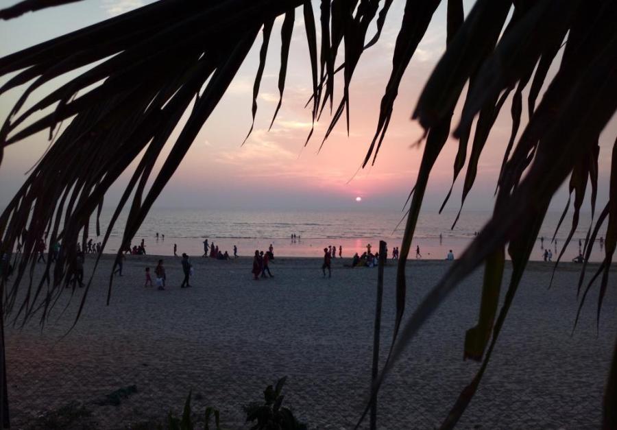 Sunset on Juhu Beach