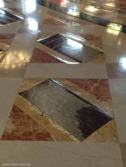 marble floor of different hardnesses