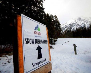 Snow Tubing at Mount Norquay