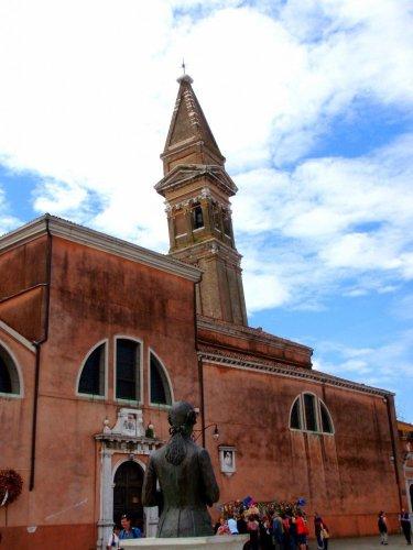 Burano's Tilted Church Steeple