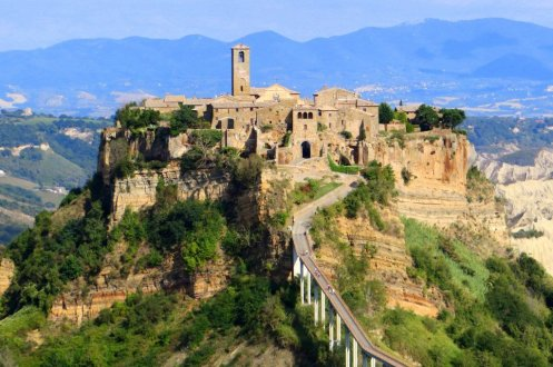 Dying town Civita Italy