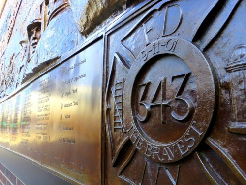 FDNY Memorial Wall NYC September 11 Ground Zero