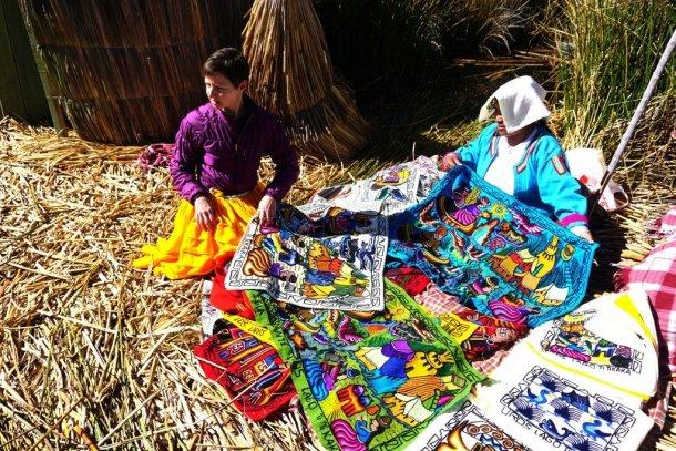 Handicrafts Reed islands Peru