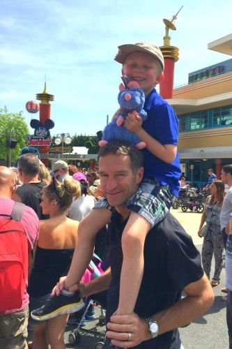 Family travel Disneyland