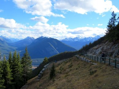Viewing areas at top of Mt Norquay
