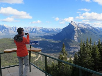 Mt Norquay viewing platform