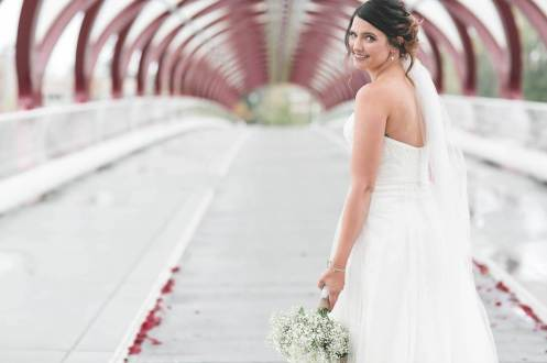 Bride Peace Bridge Calgary