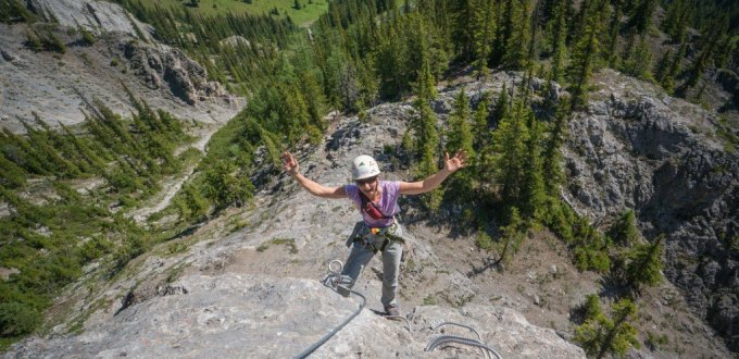 Crazy adventure Via ferrata Mt Norquay