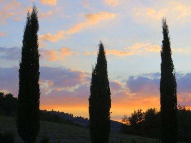 Sunset Bagnon Vignoni
