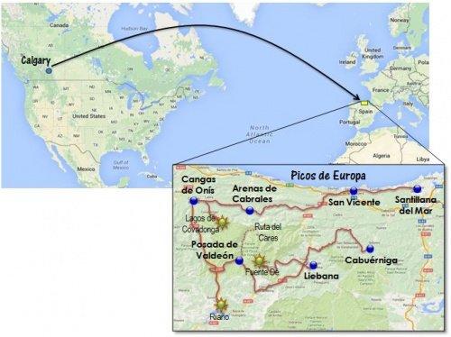 Spain Picos de Europa map