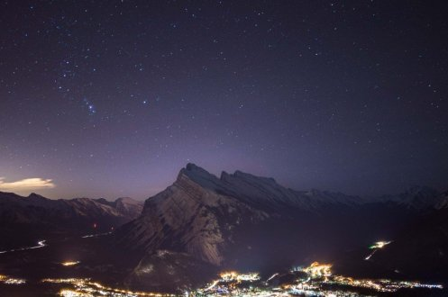 Image from Mt Norquay moonlit dinner