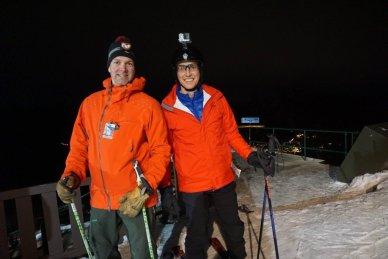 Image night ski Banff
