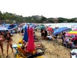 Busy beach sayulita mexico image