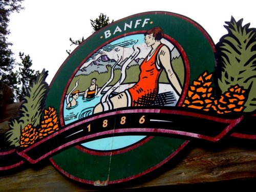 Banff Hot Springs Sign