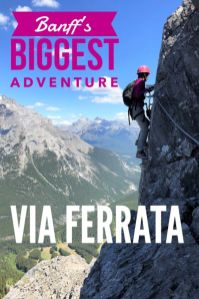 Looking for the best #BanffCanada adventure? The Mount Norquay #ViaFerrata in #BanffNationalPark provides 360 degree views of #Banff and surrounding Rocky mountains with a secured rock climbing experience. #Banff #BanffViaFerrata #Banffmustdo #ViaFerrataBanff #Banffadventure
