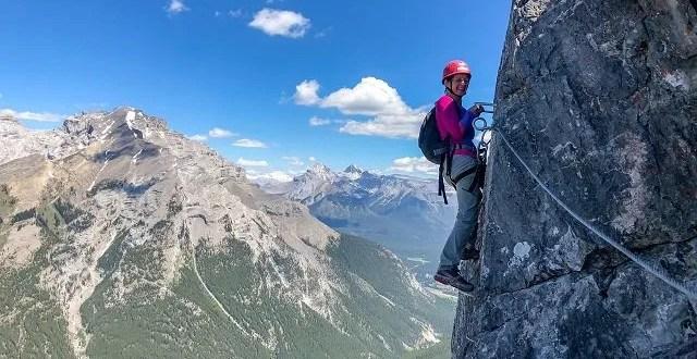 Banff Via Ferrata climbing Mount Norquay