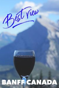 The best kept secret Banff view. Click to find out the location at Mt Norquay to relax and take in Banff National Park without the crowds. No hiking required for this amazing view of Banff Alberta. #Banff #BanffNationalPark