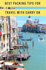 How to travel with carry on luggage including packing tips, packing hacks and the best carry on bag to buy. #packing #packing light