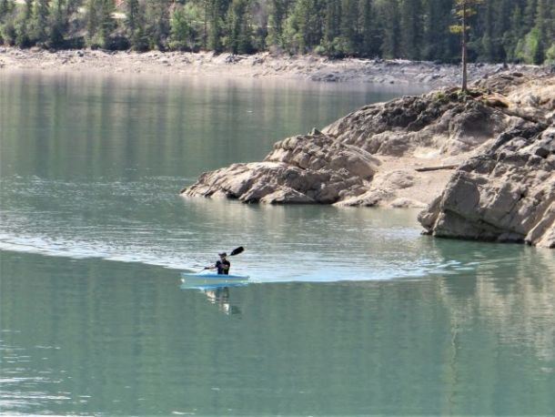 kayaking Banff National Park