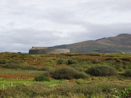 Cahergall Stone Fort on a hill