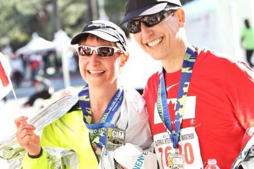 Finsih line Sacramento marathon