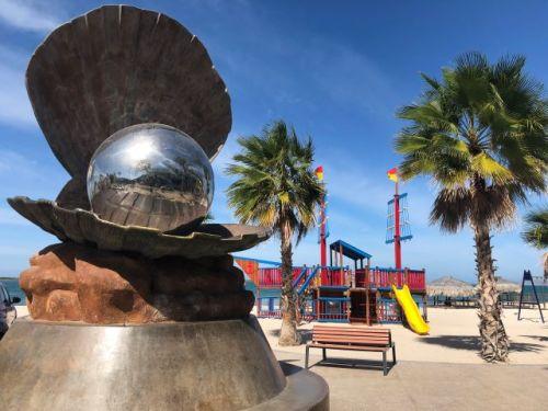 Clam sculpture La Paz Mexico Malecon