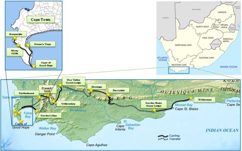 Cycling route South Africa