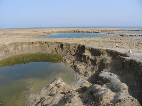 Sinkholes forming as the Dead Sea recedes