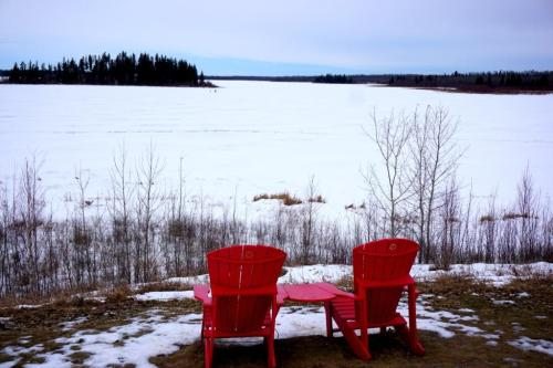 Elk Island National Park Red Chairs