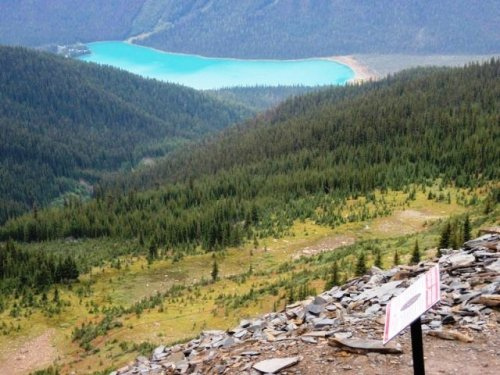 View of Emerald Lake from the Walcott Quarry of the Burgess Shale