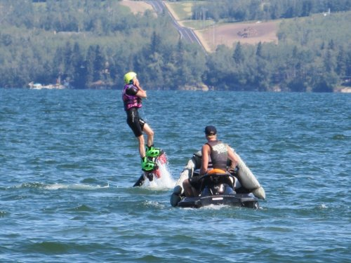 Flyboarding Sylvan Lake