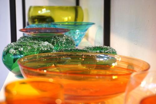 Glass art at Firebrand Glass Blowing Studio