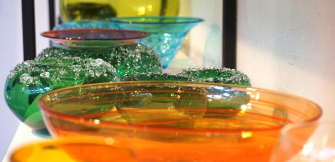 Glass art at Firebrand Glass Blowing Studio
