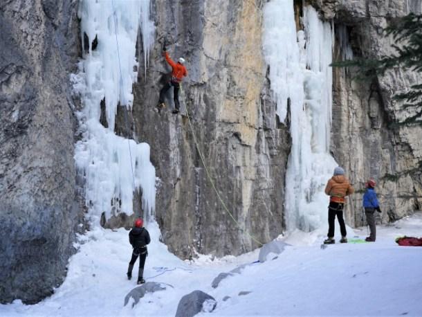 Grotto Canyon Ice Climb