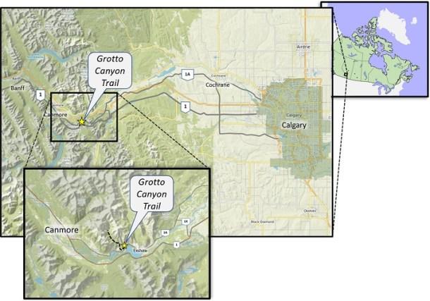 Grotto Canyon Map